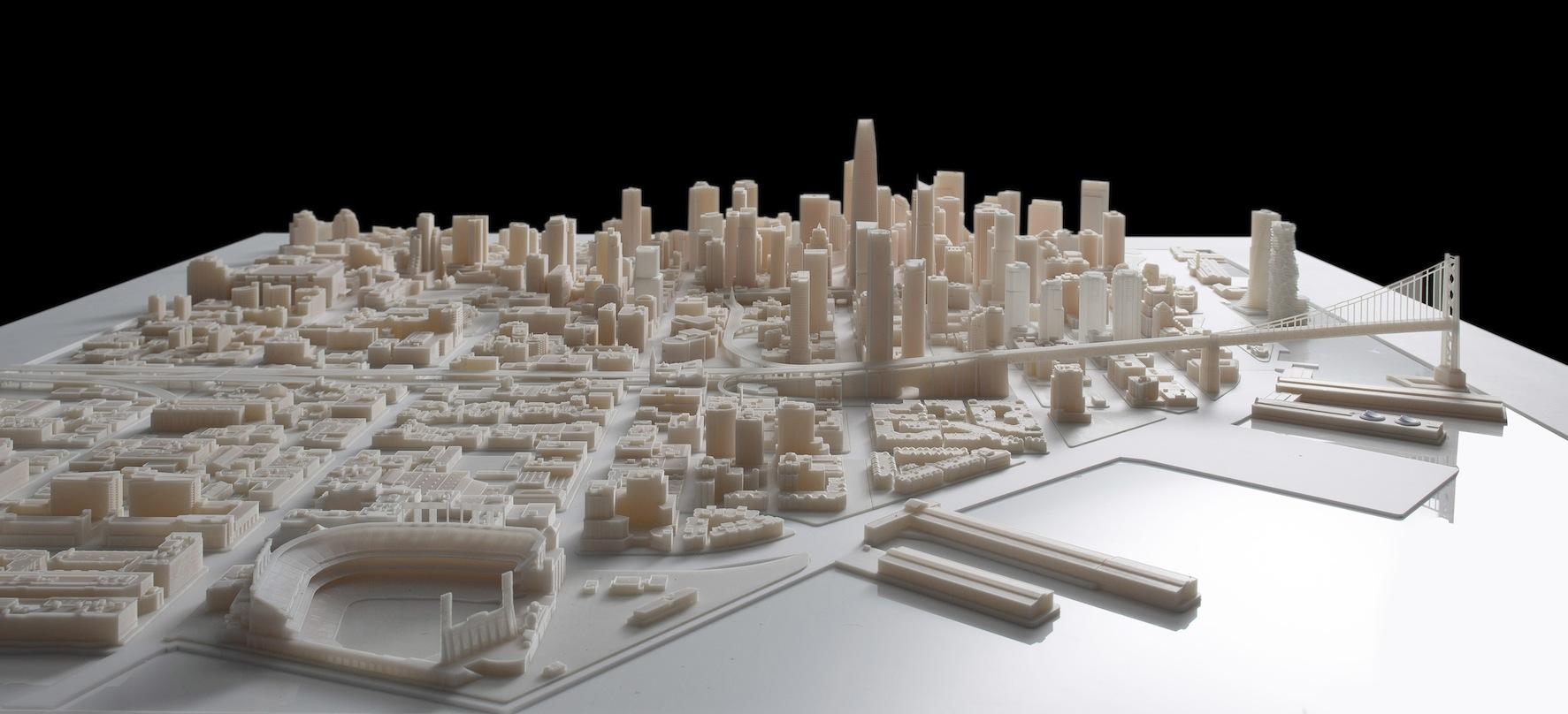 3d yazici baski şehir maket