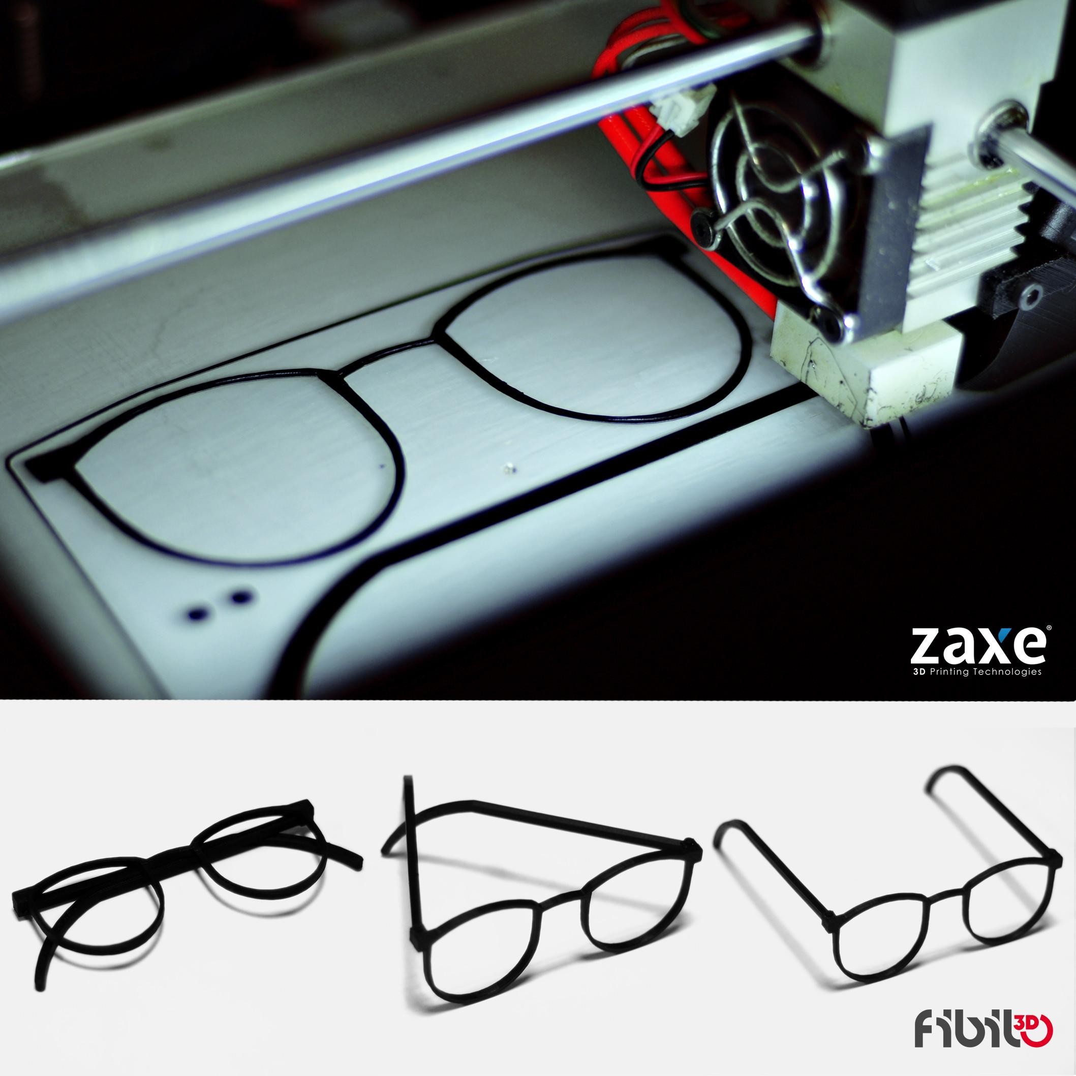 zaxe 3d yazıcı gözlük printing
