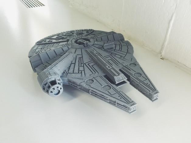 Star wars gemisi 3d yazıcı printing (3)