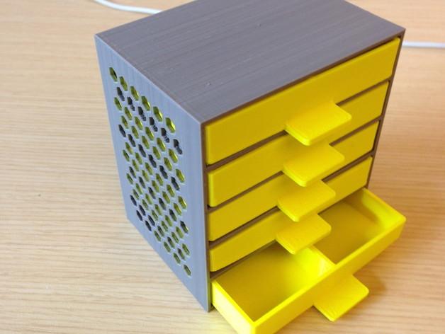 mini çekmece 3d yazıcı printing (5)