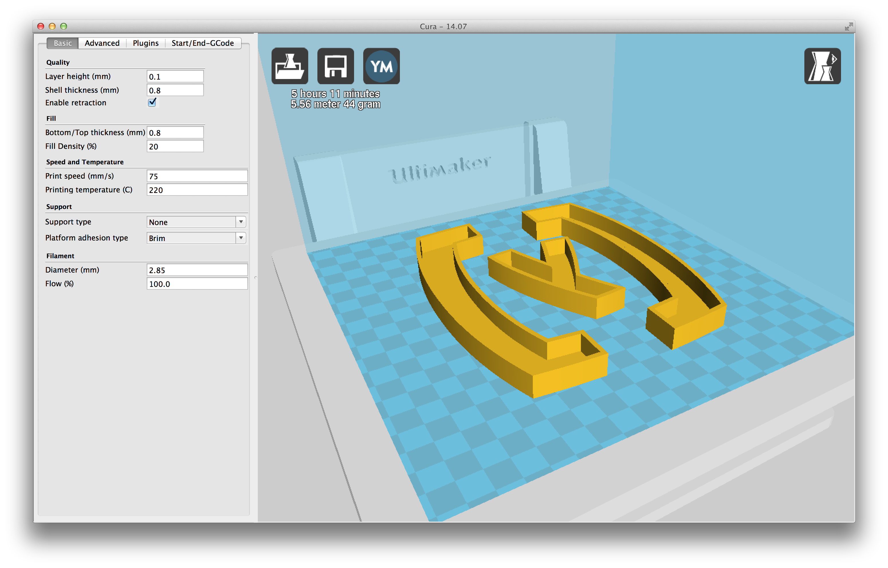 cura 3d software