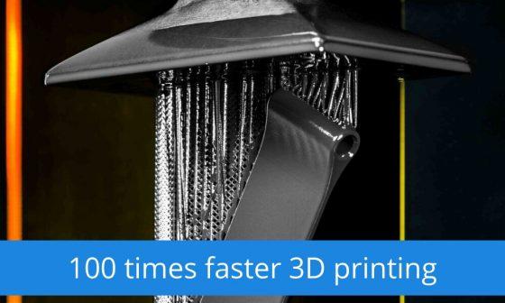 100 kat hızlı 3D Yazıcı